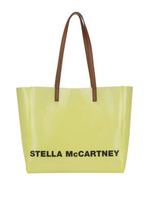 STELLA McCARTNEY: totes bags - Logo lettering yellow tote bag
