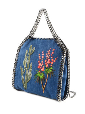 Stella Mccartney: totes bags online - Falabella eco cotton mini tote