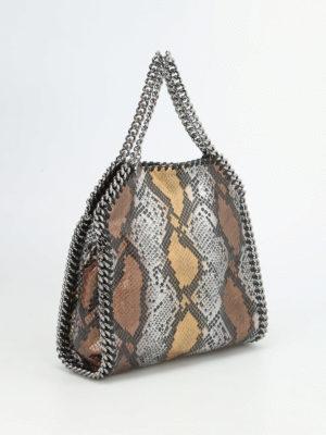 Stella Mccartney: totes bags online - Falabella fold over python bag