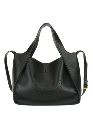 STELLA McCARTNEY: shopper - Borsa Stella in simil pelle nera