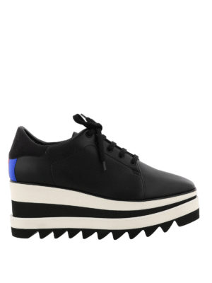 Stella Mccartney: trainers - Elyse maxi-sole black lace-ups
