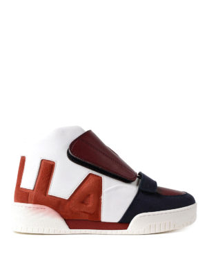 Stella Mccartney: trainers - High-top multicolour sneakers