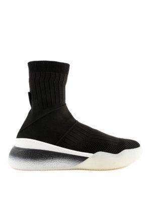 STELLA McCARTNEY: sneakers - Sneaker Loop a calzino con suola a contrasto