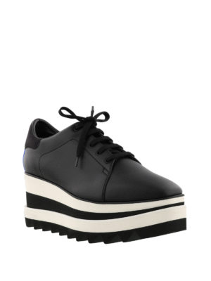 Stella Mccartney: trainers online - Elyse maxi-sole black lace-ups