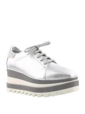 Stella Mccartney: trainers online - Silver tone maxi sole Sneak-Elyse