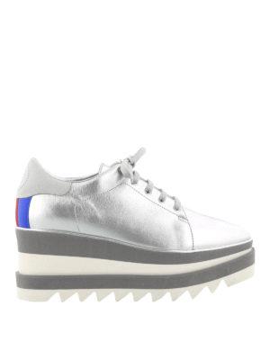 Stella Mccartney: trainers - Silver tone maxi sole Sneak-Elyse