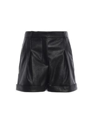 STELLA McCARTNEY: pantaloni shorts - Pantaloncini Danielle in finta pelle