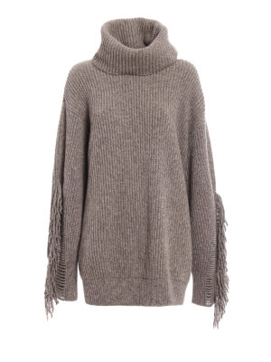 Stella Mccartney: Turtlenecks & Polo necks - Fringed cashmere over turtleneck