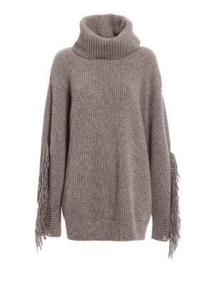 Stella Mccartney: Turtlenecks & Polo necks - Fringed cashmere over turtleneck