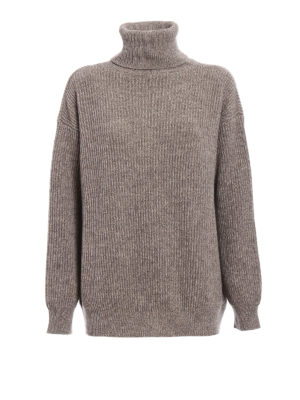 Stella Mccartney: Turtlenecks & Polo necks - Melange cashmere over turtleneck
