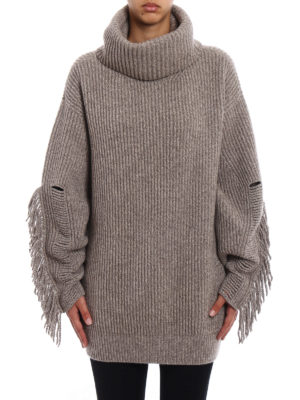 Stella Mccartney: Turtlenecks & Polo necks online - Fringed cashmere over turtleneck