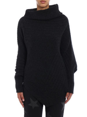 Stella Mccartney: Turtlenecks & Polo necks online - Ribbed wool asymmetric turtleneck