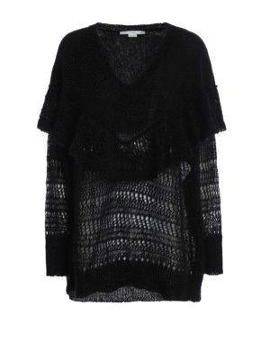 Stella Mccartney: v necks - Flounced mohair blend over sweater