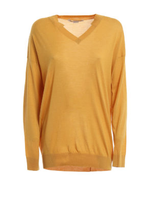 Stella Mccartney: v necks - Wool and silk pullover