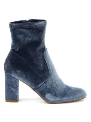Steve Madden: ankle boots - Avenue velvet ankle boots