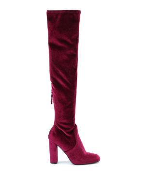 Steve Madden: boots - Emotion velvet sock boots