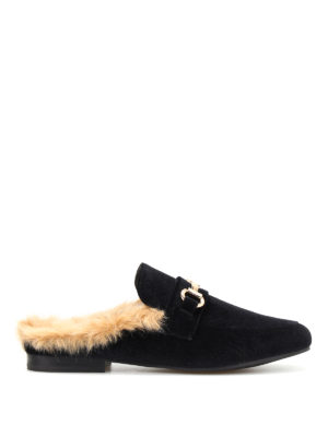 Steve Madden: Loafers & Slippers - Jill faux fur lined velvet slippers