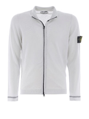 Stone Island: casual jackets - Cotton zipped cardigan