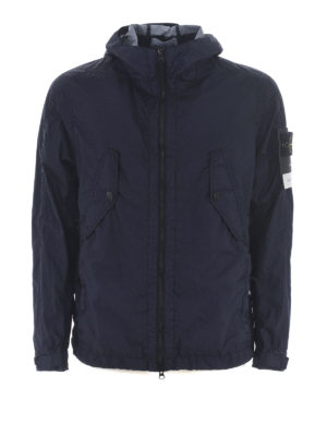 STONE ISLAND: giacche casual - Leggera giacca impermeabile blu