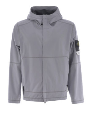 STONE ISLAND: giacche casual - Light Soft Shell Si Check Grid