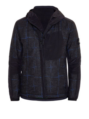 Stone Island: casual jackets - House Check wool and nylon jacket