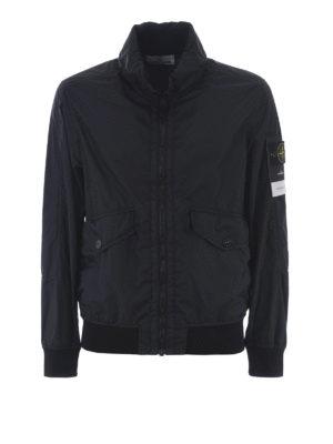 STONE ISLAND: giacche casual - Giacca blu Membrana 3L TC
