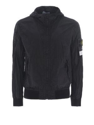 STONE ISLAND: giacche casual - Giacca nera in Nylon Metal Watro