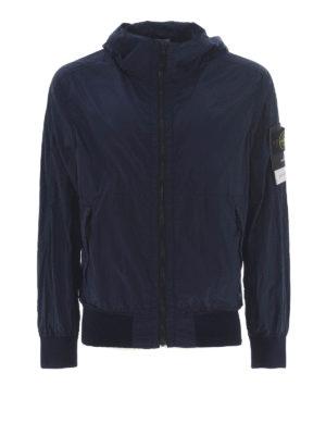 STONE ISLAND: giacche casual - Giacca blu in Nylon Metal Watro