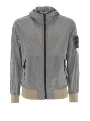 STONE ISLAND: giacche casual - Giacca grigia Nylon Metal Watro