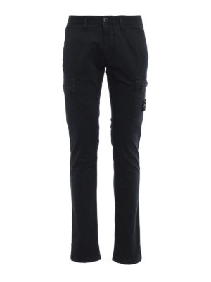 Stone Island: casual trousers - Logo detailed cotton cargo trousers
