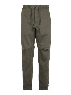 STONE ISLAND: pantaloni casual - Pantaloni ampi in rasatello stretch