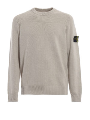 STONE ISLAND: maglia collo rotondo - Girocollo in misto lana beige