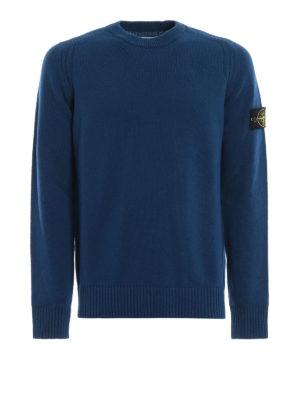 STONE ISLAND: maglia collo rotondo - Pull in misto lana color petrolio