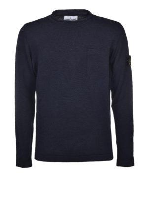 Stone Island: crew necks - Chest pocket roll neck pullover