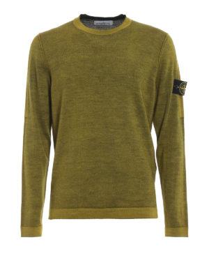 STONE ISLAND: maglia collo rotondo - Girocollo in lana mélange