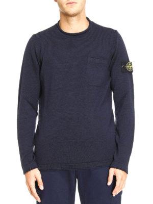 Stone Island: crew necks online - Chest pocket roll neck pullover
