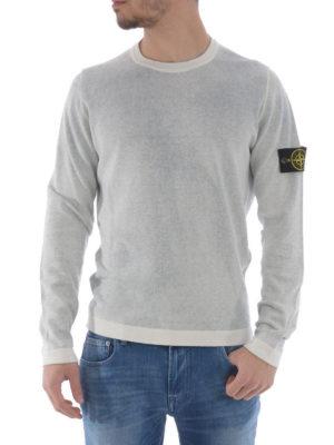 Stone Island: crew necks online - Spray effect cotton top