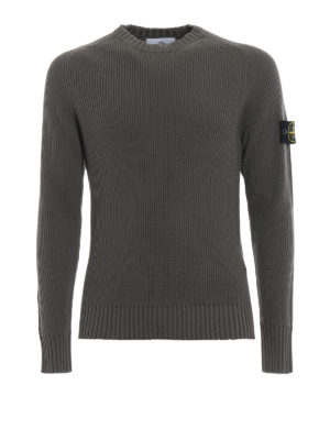 STONE ISLAND: maglia collo rotondo - Girocollo in lana a coste