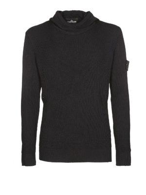 STONE ISLAND: maglia collo rotondo - Maglia in lana e seta con cappuccio