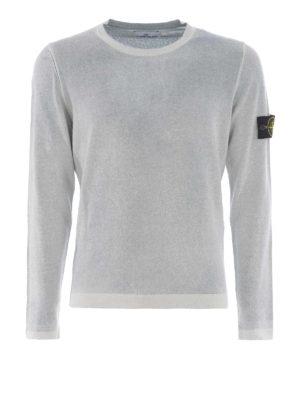 Stone Island: crew necks - Spray effect cotton top