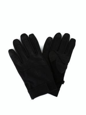 STONE ISLAND: guanti - Guanti in pelle e tessuto tecnico