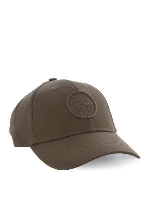 Stone Island: hats & caps - Army-green hue baseball cap