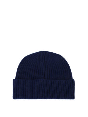 STONE ISLAND: berretti online - Berretto in lana a costine blu