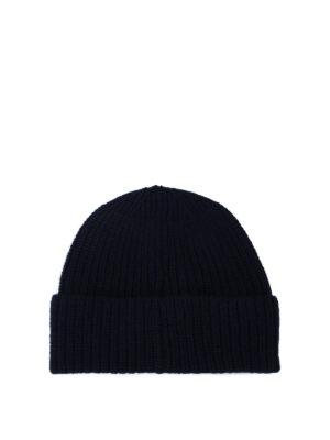STONE ISLAND: berretti online - Berretto in lana a costine blu scuro