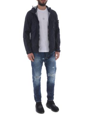 STONE ISLAND: giacche casual online - Leggera giacca impermeabile blu