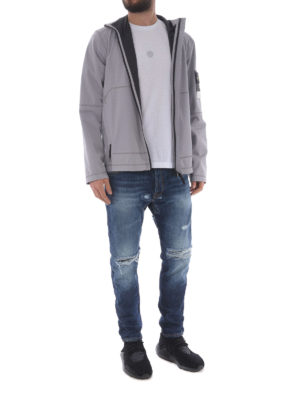 STONE ISLAND: giacche casual online - Light Soft Shell Si Check Grid