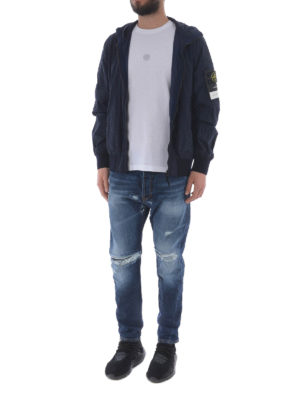 STONE ISLAND: giacche casual online - Giacca blu in Nylon Metal Watro