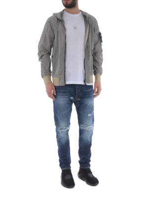 STONE ISLAND: giacche casual online - Giacca grigia Nylon Metal Watro