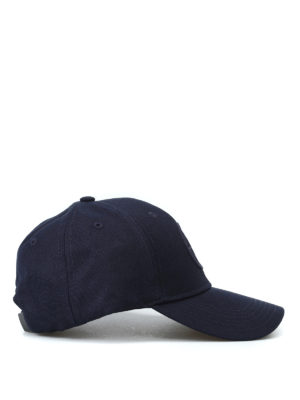 STONE ISLAND: cappelli online - Cappellino da baseball in misto lana blu