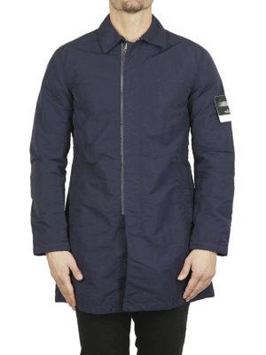 STONE ISLAND: cappotti corti online - Cappottino in Naslan antigoccia blu